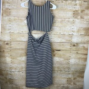 a2d550ef Zara Dresses | Striped Knotted 2 Piece Set Dress Medium | Poshmark
